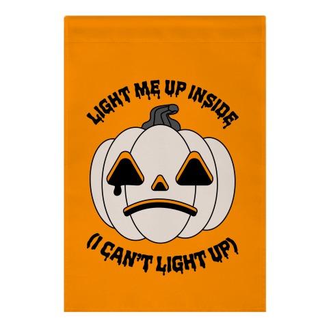 Light Me Up Inside Pumpkin Garden Flag