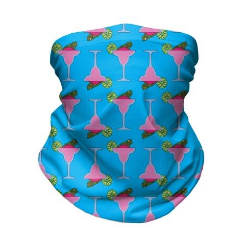 Frog-a-Rita Pattern Neck Gaiter