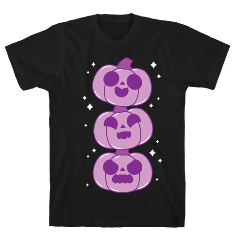 Kawaii Pumpkin Trio Purple T-Shirt
