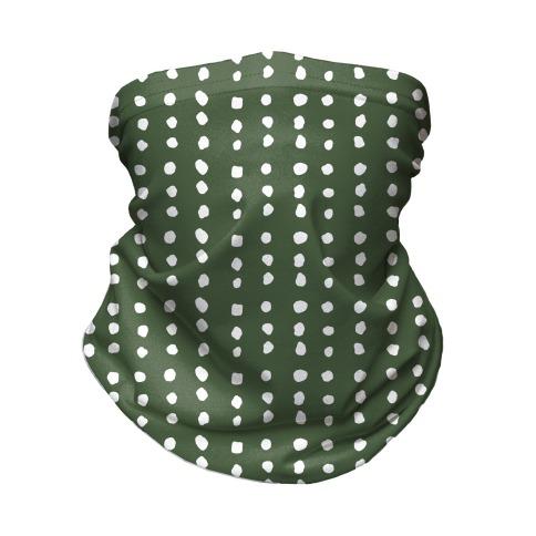 Polka Dot Chive Minimalist Boho Pattern Neck Gaiter