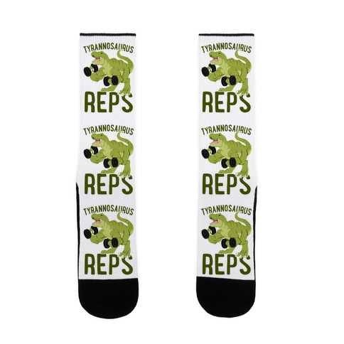 Tyrannosaurus Reps Sock