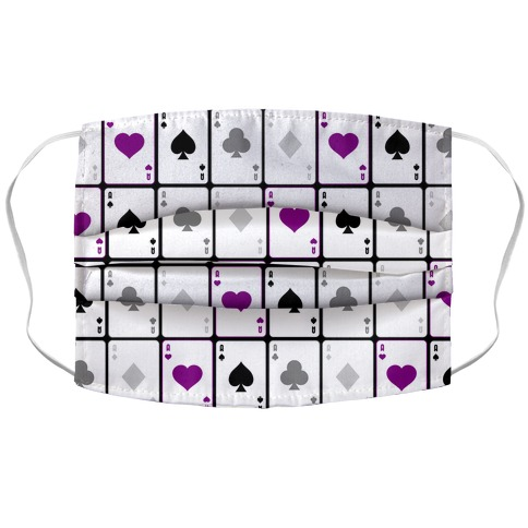 Asexual Aces Pattern Accordion Face Mask