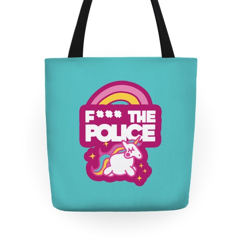 F*** The Police (Unicorn) (Censored) Tote