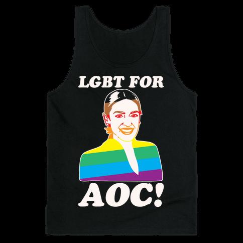 LGBT For AOC White Print Tank Top
