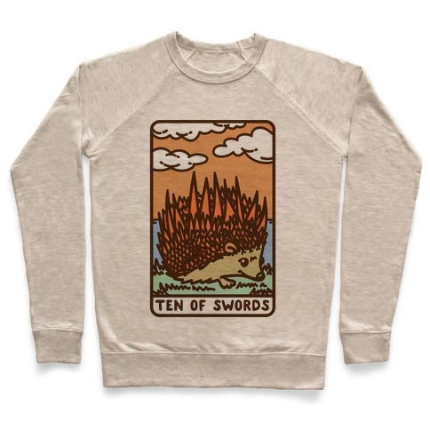 Ten of Swords HedgeHog Tarot Parody Pullover