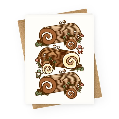 Holiday Yule Logs Greeting Card