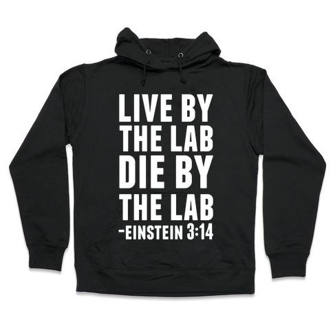 Live By The Lab Die By The Lab Einstein 3:14 Hooded Sweatshirt