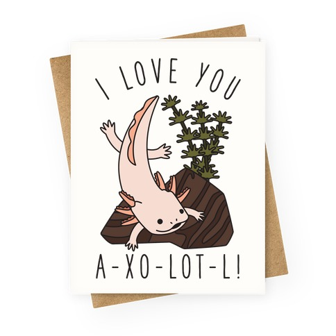 I Love You A-xo-lot-l Greeting Card