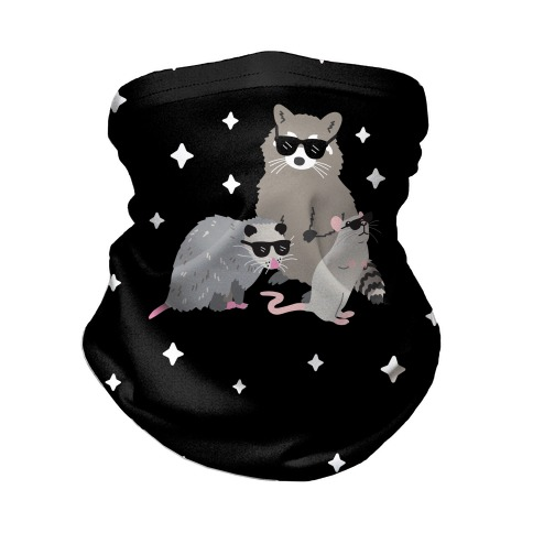 Team Trash Opossum Raccoon Rat Neck Gaiter