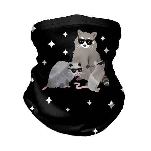 Team Trash Opossum Raccoon Rat Neck Gaiter
