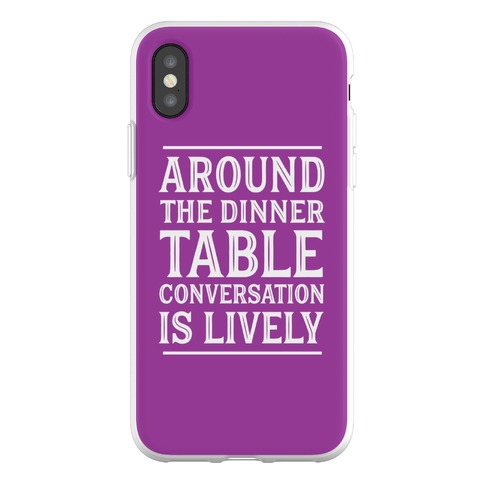Around The Dinner Table, Conversation Is Lively Phone Flexi-Case