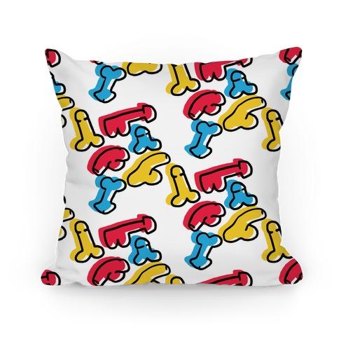 Pop Art Penis Pattern Pillow