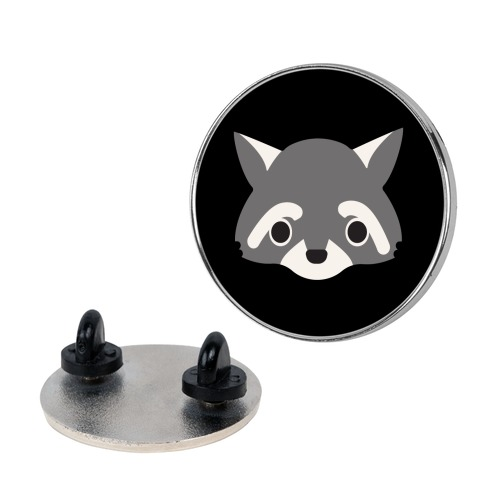 Cute Raccoon Face pin