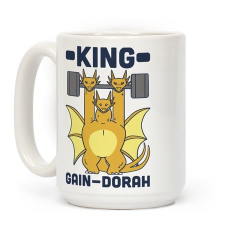 King Gain-dorah - King Ghidorah  Coffee Mug