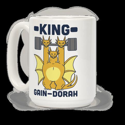 King Gain-dorah - King Ghidorah  Coffee Mug
