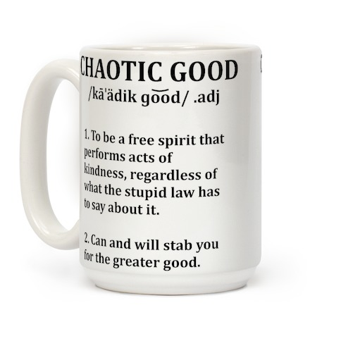Chaotic Good Definition Coffee Mug