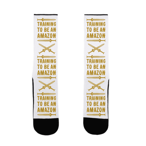 Training To Be An Amazon Parody Sock