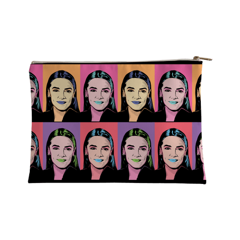 Alexandria Ocasio-Cortez Pop Art Parody Accessory Bag