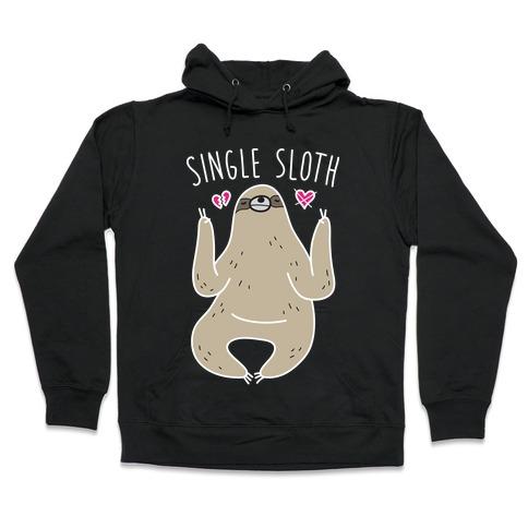 Single Sloth Hooded Sweatshirt