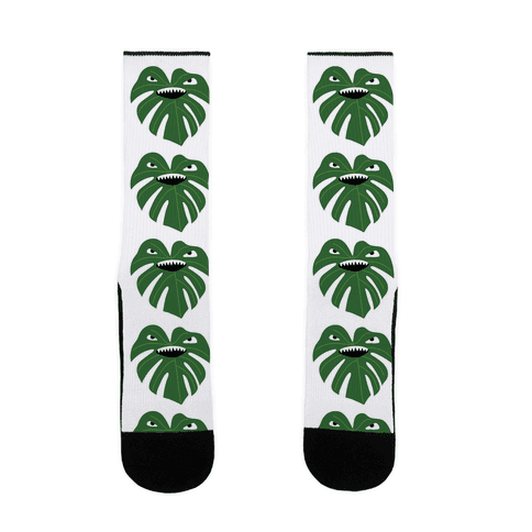 Monstera Leaf Monster Sock