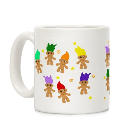 Rainbow Troll Pattern Coffee Mug