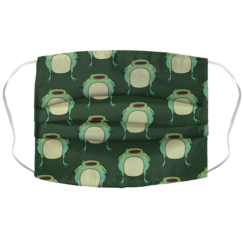 Fat Frog Pattern Accordion Face Mask