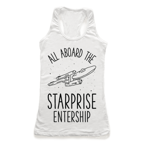 All Aboard The Starprise Entership Racerback Tank Top