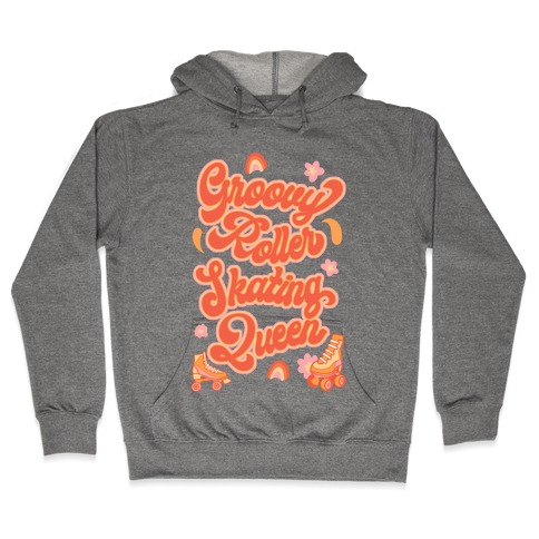 Groovy Roller Skating Queen Hooded Sweatshirt