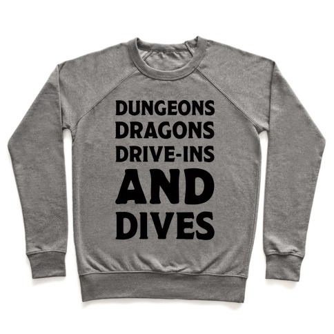 Dungeons Dragons Drive-ins And Dives Pullover