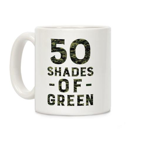 50 Shades of Green Coffee Mug