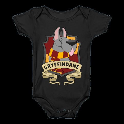 Gryffindane Baby Onesy