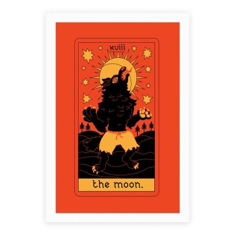 The Moon Werewolf Tarot Poster