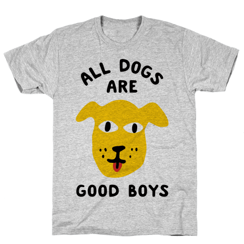 43c16d631022 All Dogs Are Good Boys Racerback Tank | LookHUMAN