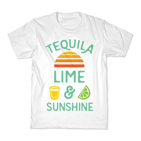 Tequila Lime And Sunshine Kids T-Shirt