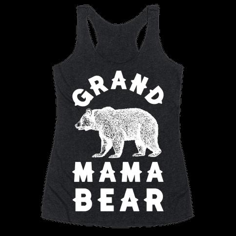 Grandmama Bear Racerback Tank Top