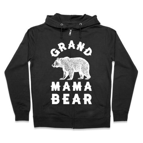 Grandmama Bear Zip Hoodie