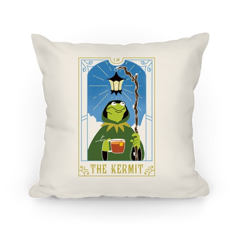 The Kermit Tarot Card Pillow