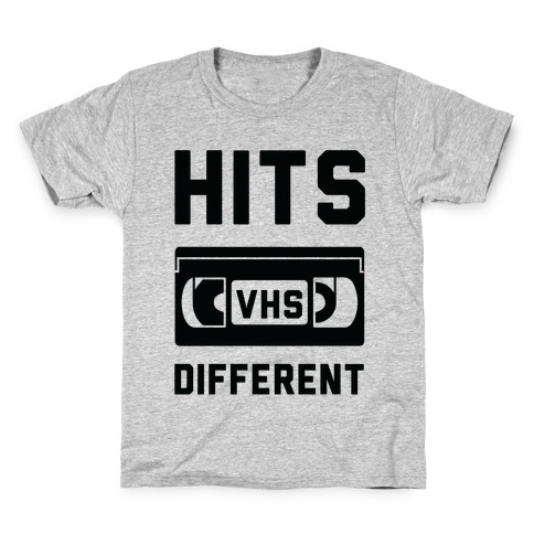 Hits Different VHS Kids T-Shirt