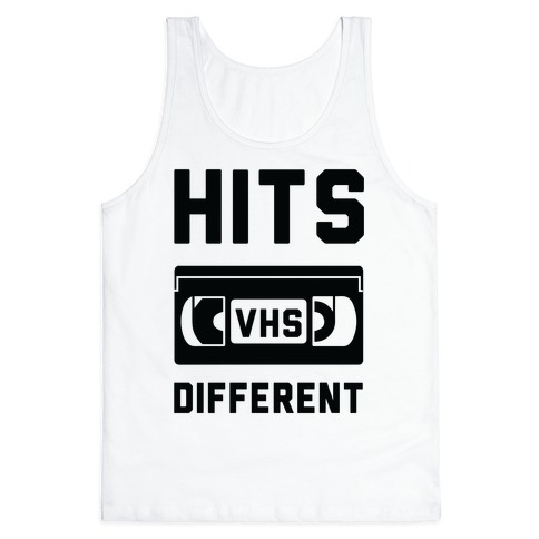 Hits Different VHS Tank Top