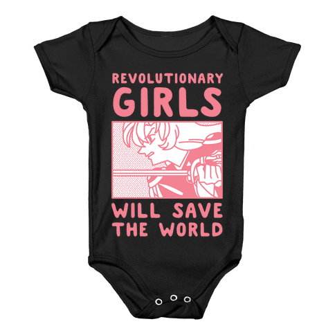 Revolutionary Girls Will Save The World Baby Onesy