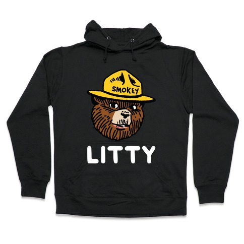 Litty Smokey The Bear Hooded Sweatshirt