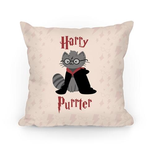 Harry Purrter Pillow