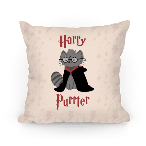 Harry Purrter Pillow