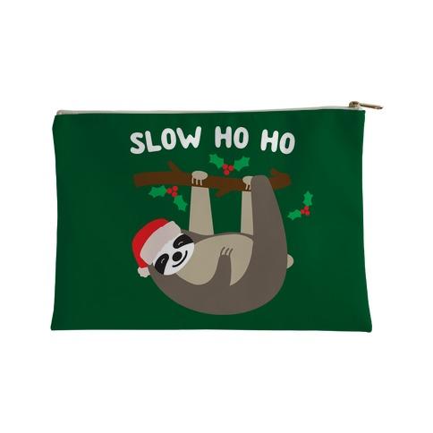 Slow Ho Ho Santa Sloth Accessory Bag
