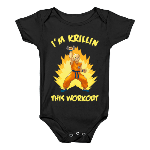 I'm Krillin This Workout Baby Onesy