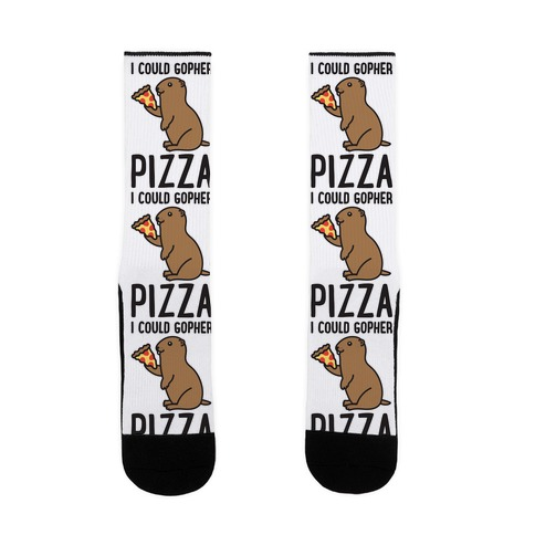 I Could Gopher Pizza Sock