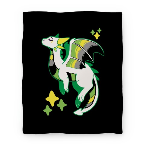 Aromantic Pride Dragon Blanket