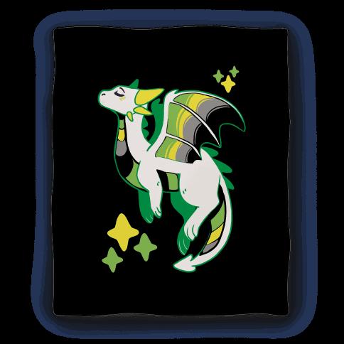 Aromantic Pride Dragon Blanket