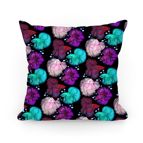 Beta Fish Pattern Pillow