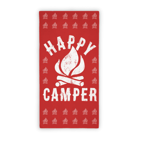 Happy Camper Towel Beach Towel